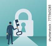 businessman in suit standing in ... | Shutterstock .eps vector #777565285