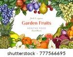poster  card template. garden... | Shutterstock .eps vector #777566695