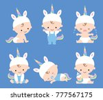 vector illustration of baby boy ... | Shutterstock .eps vector #777567175