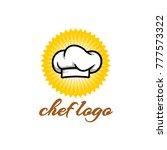 chef hat logo   badge vector  | Shutterstock .eps vector #777573322