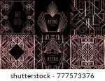 art deco vintage patterns and... | Shutterstock .eps vector #777573376