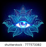 sacred geometry symbol with all ... | Shutterstock .eps vector #777573382