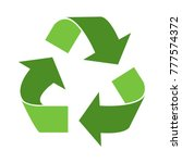 green triangular eco recycle... | Shutterstock .eps vector #777574372