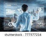 business future technology... | Shutterstock . vector #777577216