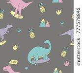 dinosaur pattern. vector ... | Shutterstock .eps vector #777578842