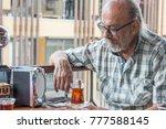 Old Turkish Man With Eyeglasse...