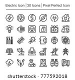 electric line icon editable... | Shutterstock .eps vector #777592018
