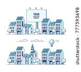 set of cityscape. vector... | Shutterstock .eps vector #777593698