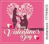 happy valentines day cards  | Shutterstock .eps vector #777595072