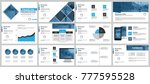 blue and black business... | Shutterstock .eps vector #777595528