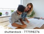 business people and architects... | Shutterstock . vector #777598276