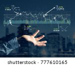 view of a trading forex data... | Shutterstock . vector #777610165