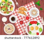 vector illustration of healthy...   Shutterstock .eps vector #777612892