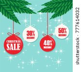 christmas sale tags vector set... | Shutterstock .eps vector #777614032