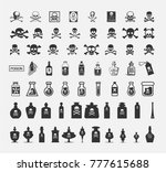 skulls and poisons objects... | Shutterstock .eps vector #777615688
