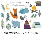 ethnic world of wild animals | Shutterstock .eps vector #777621046