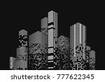 building and city illustration. ... | Shutterstock . vector #777622345