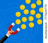 concept of crypto currency.... | Shutterstock .eps vector #777624775