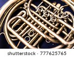 a resting french horn | Shutterstock . vector #777625765
