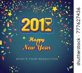 new year typography with... | Shutterstock .eps vector #777627436