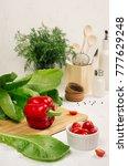 healthy vegetarian ingredients... | Shutterstock . vector #777629248