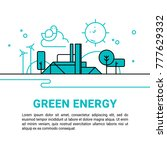 vector illustration of green... | Shutterstock .eps vector #777629332