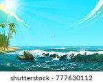 seascape in sunny day  vector... | Shutterstock .eps vector #777630112