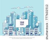 a big city billboard for... | Shutterstock .eps vector #777632512