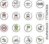 line vector icon set   plane... | Shutterstock .eps vector #777634366