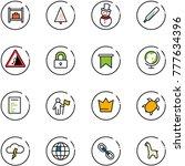 line vector icon set   baggage... | Shutterstock .eps vector #777634396