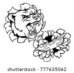 a bear angry animal esports... | Shutterstock .eps vector #777635062