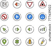 line vector icon set   elevator ... | Shutterstock .eps vector #777639022