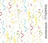 christmas confetti seamless...   Shutterstock .eps vector #777639442