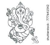 hindu god ganesha. ganapati....   Shutterstock .eps vector #777641542