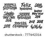 merry christmas  feliz navidad  ... | Shutterstock . vector #777642316