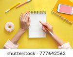 colorful yellow background with ... | Shutterstock . vector #777642562