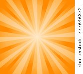 abstract soft orange rays... | Shutterstock .eps vector #777646372
