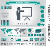 business training icon set and... | Shutterstock .eps vector #777648862