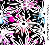 flowers seamless hand craft... | Shutterstock .eps vector #777649222