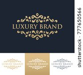 luxury logo template | Shutterstock .eps vector #777650566