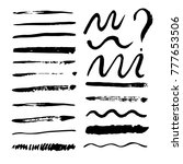 collection of vector brush... | Shutterstock .eps vector #777653506