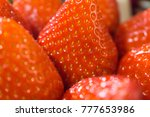 close up detail of a fresh red... | Shutterstock . vector #777653986