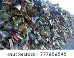 padlocks on pont des arts ... | Shutterstock . vector #777656545