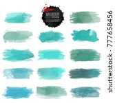 set of watercolor stain. vector ... | Shutterstock .eps vector #777658456