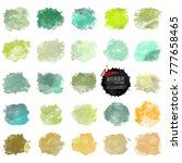 set of watercolor stain. vector ... | Shutterstock .eps vector #777658465