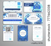 vector set of loyalty cards... | Shutterstock .eps vector #777662338