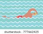 vector cartoon funny... | Shutterstock .eps vector #777662425