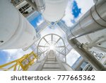 offshore oil and gas process... | Shutterstock . vector #777665362