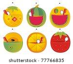 homemade children's pockets for things - stock vector