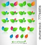 vector set of color leaves. | Shutterstock .eps vector #77766856